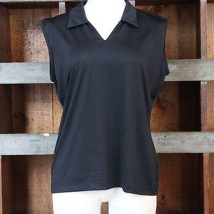Nike Golf black v neck Tank Top